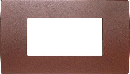 Декоративна рамка металева колір зістарений метал серія PURE італійський стандарт 4 модуля OP40ME