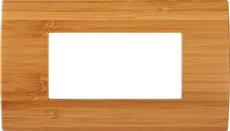 Декоративна рамка дерев'яна бамбук серія PURE італійський стандарт 4 модуля OP40WB