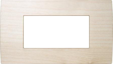 Декоративна рамка дерев'яна клен серія PURE італійський стандарт 4 модуля OP40WM