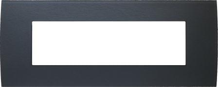 Декоративна рамка скляна колір сірий лід серія PURE італійський стандарт 7 модулів OP70GY