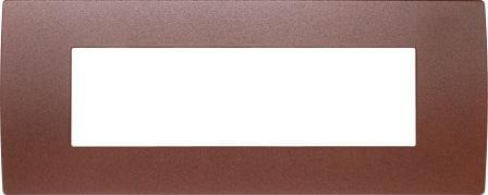 Декоративна рамка металева колір зістарений метал серія PURE італійський стандарт 7 модулів OP70ME