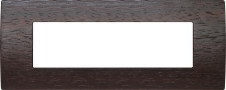 Декоративна рамка дерев'яна венге серія PURE італійський стандарт 7 модулів OP70WE