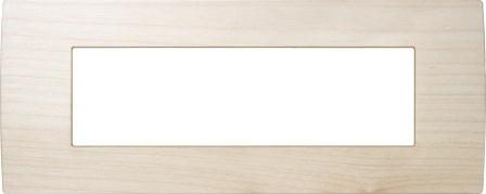 Декоративна рамка дерев'яна клен серія PURE італійський стандарт 7 модулів OP70WM