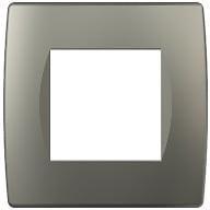 Декоративна рамка пластикова колір титан серія Soft 2 модуля OS20TI