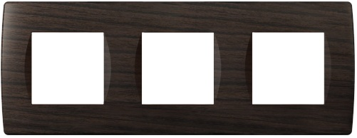 Декоративна рамка пластикова колір венге серія Soft німецький стандарт 3х2 модуля OS26WE