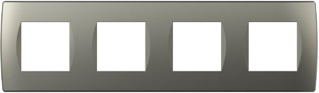 Декоративна рамка пластикова колір титан серія Soft німецький стандарт 4х2 модуля OS28TI
