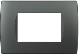 Декоративна рамка пластикова колір антрацит серія Soft італійський стандарт 3 модуля OS30AT
