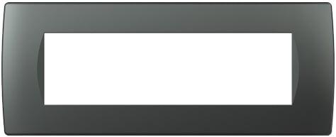 Декоративна рамка пластикова колір антрацит серія Soft італійський стандарт 7 модулів OS70AT