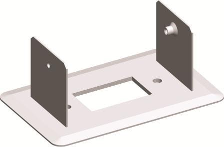 Монтажний кронштейн для міні-колони МА130 одинарний 130х65, колір срібний металік RT50ES