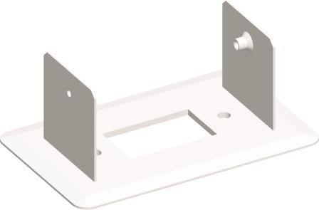 Монтажний кронштейн для міні-колони МА130 одинарний 130х65, колір сніжно-білий RT50PW