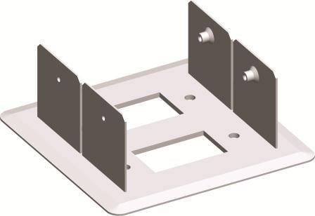 Монтажний кронштейн для міні-колони МА130 подвійний 130х65, колір срібний металік RT51ES
