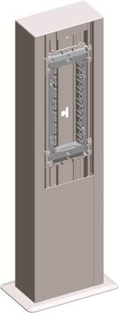 Міні-колона МА130х65х500 одинарна, колір срібний металік RT52ES