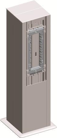 Міні-колона МА130х130х500 подвійна, колір срібний металік RT53ES