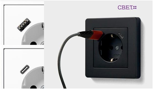 Розетки з USB роз'ємами JUNG SCHUKO®