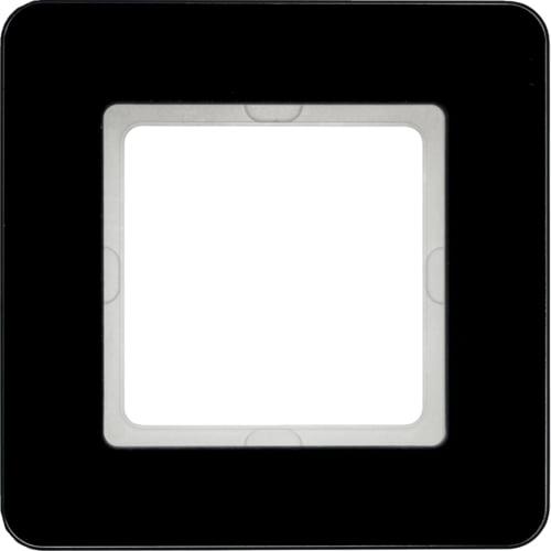 Рамка 1-на Q. 7 Чорне скло