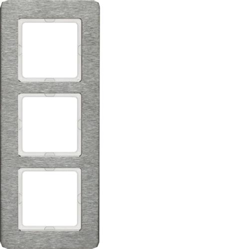 Рамка 2-на вертикальна Q. 7 Нержавіюча сталь