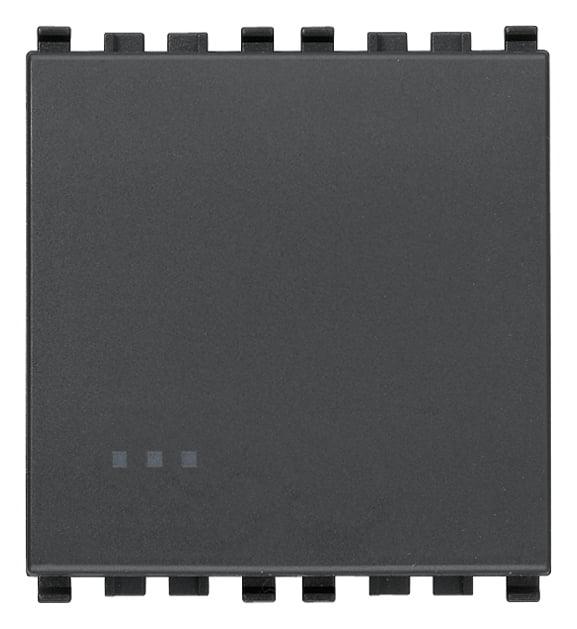 Вимикач прохідний (універсальний) 16А 250В 2 модулі колір сірий EIKON 20005.2