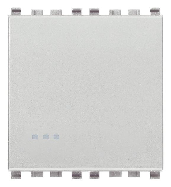 Вимикач прохідний (універсальний) 16А 250В 2 модулі колір срібний EIKON 20005.2.N