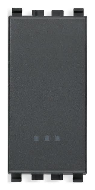 Вимикач прохідний (універсальний) 16А 250В 1 модуль колір сірий EIKON 20005