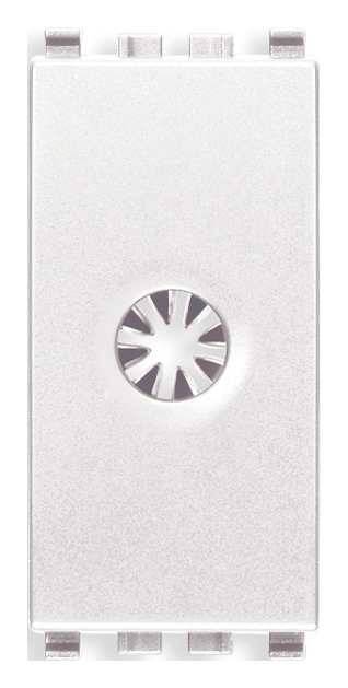 Розетка для виводу кабеля, 1 модуль, колір білий EIKON 20044.B