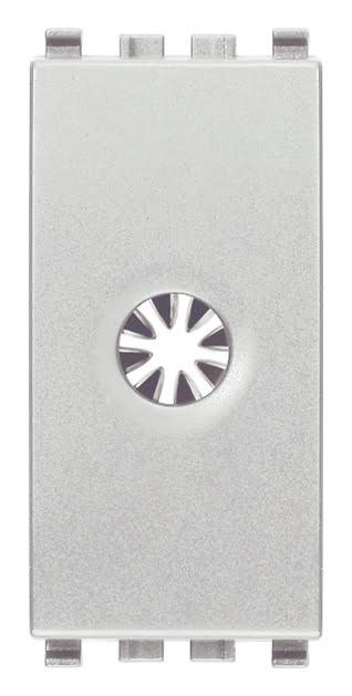 Розетка для виводу кабеля, 1 модуль, колір срібний EIKON 20044.N