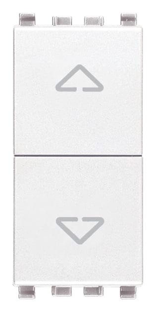 Вимикач для жалюзі 1-0-2 10А 250В 1 модуль колір білий EIKON 20060.B