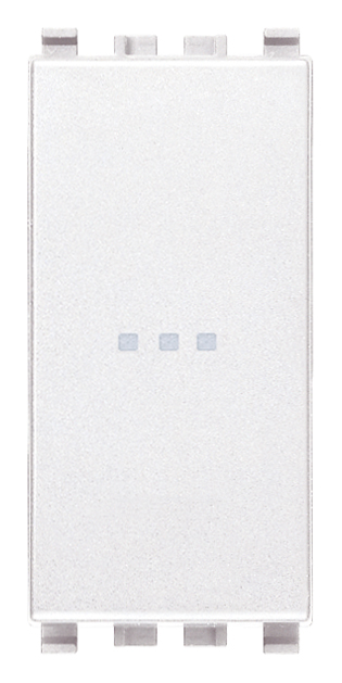 Вимикач однополюсний аксіального (нажимного) типу 16А 250В 1 модуль колір білий EIKON 20101.B