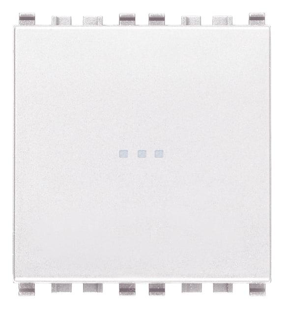 Вимикач прохідний (універсальний) аксіального (нажимного) типу 16А 250В 2 модулі колір білий EIKON 20105.2.B