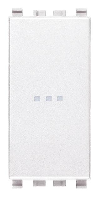 Вимикач прохідний (універсальний) аксіального (нажимного) типу 16А 250В 1 модуль колір білий EIKON 20105.B