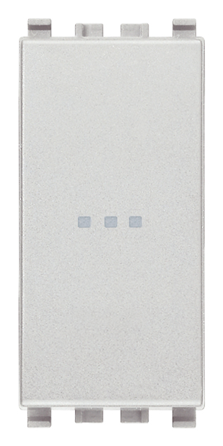 Вимикач перехресний (хрестовий) аксіального (нажимного) типу 16А 250В 1 модуль колір срібний EIKON 20113.N