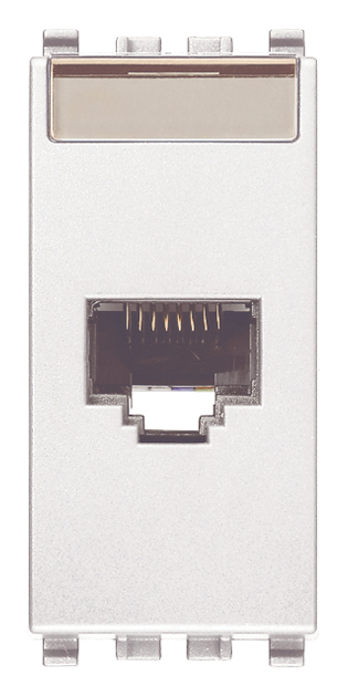 Розетка інформаційна один вихід RJ45 UTP (8 контактів), 5е категорія, 1 модуль, колір білий EIKON 20339.11.B