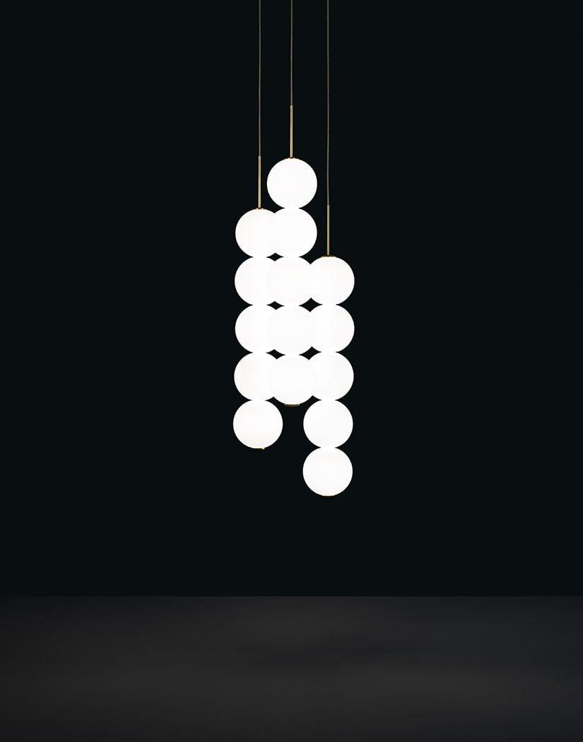 Підвісний світильник Terzani Abacus Suspension Body | 3x5 spheres| Canopy white| 0-10V PWM