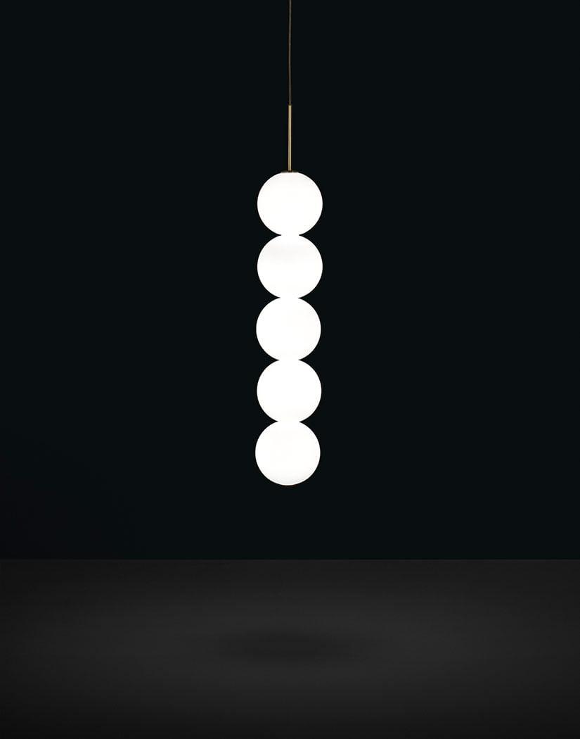 Підвісний світильник Terzani Abacus Pendant Body | 5 spheres| Canopy white|0-10V PWM